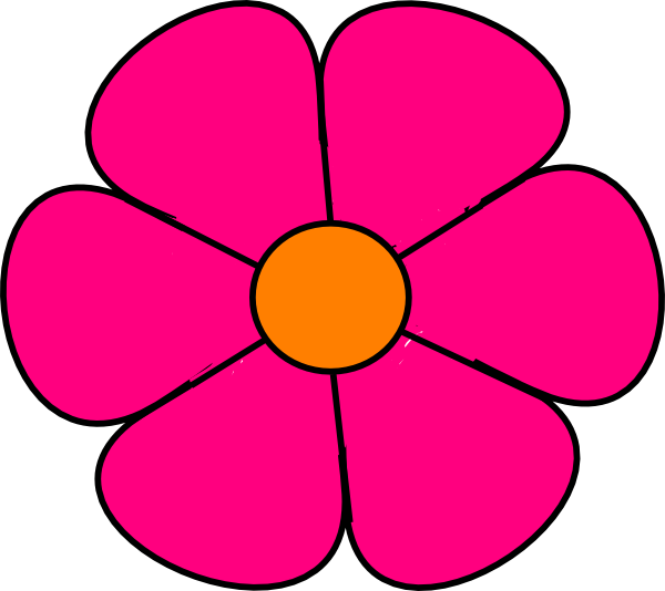 Pink Flower 2 Clip Art at Clker.com - vector clip art ...