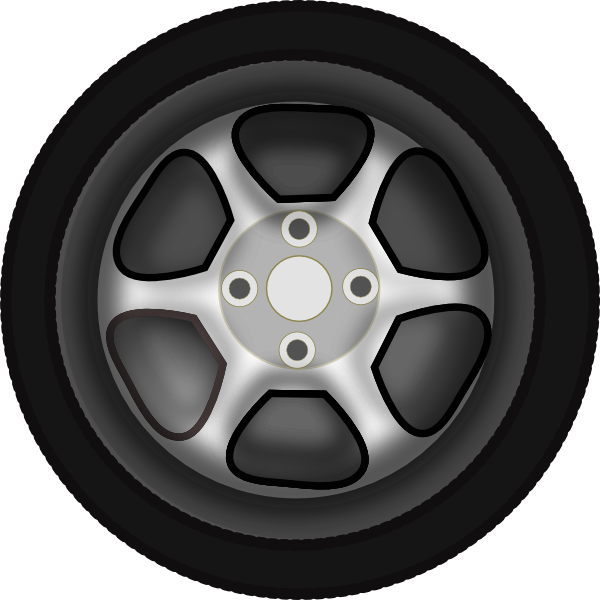 Wheel 3 Clip Art At Clker Com Vector Clip Art Online