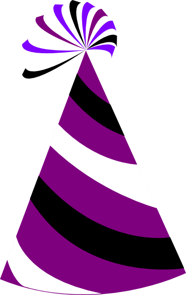 Purple and white party hat clip art at clker com vector clip art online royalty free amp public