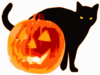 Cat And Jack O Lantern Clip Art