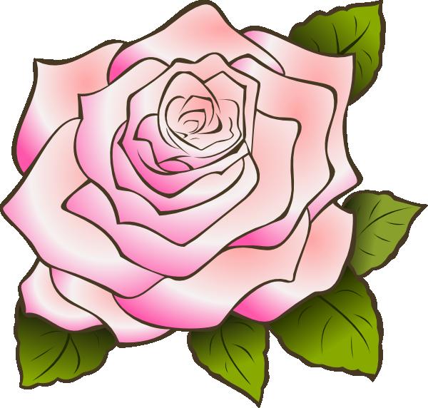 Pink Rose Clip Art at Clker.com - vector clip art online, royalty free & public domain
