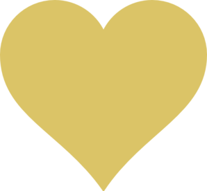 Tan Heart Clip Art
