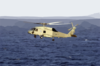 Sh-60 Seahawk Provides Plane Guard Support. Clip Art