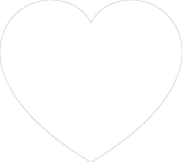 Clipart White Heart 2 on Black Vine Border