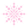 Snowflake Pinky Pink Clip Art