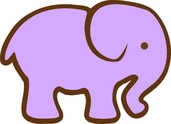 Purple Elephant Clip Art at Clker.com - vector clip art ...