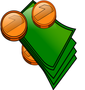 Money Coins And Bills Clip Art