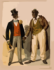 [two Performers In Blackface, Facing Each Other, One In Tuxedo, Other In Suit] Clip Art