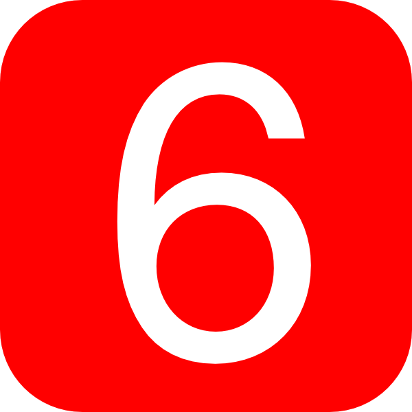 Red  Rounded  Square With Number 6 Clip Art At Clker Com