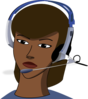 Woman With A Headset  Clip Art