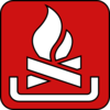 Camp Fire Symbol Red Clip Art