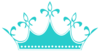 Teal Wears The Crown Dots Clip Art
