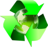 Recycle Symbol With Earth Clip Art