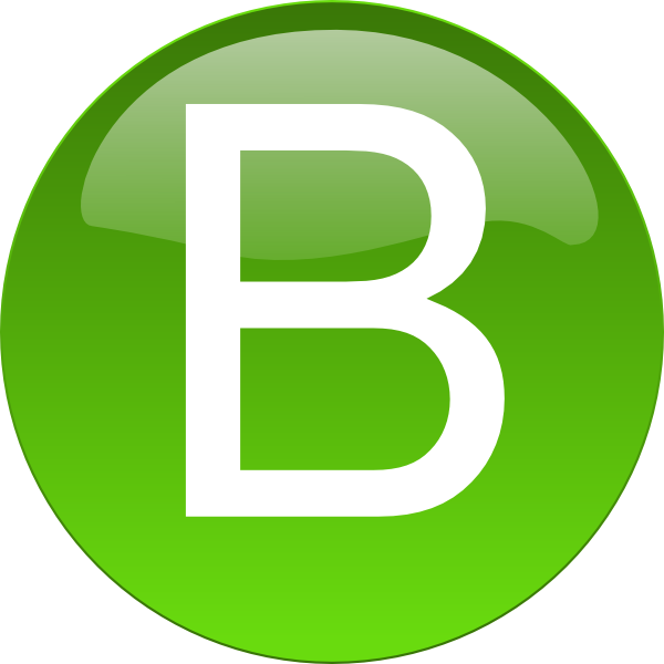 Green B Clip Art at Clker.com - vector clip art online ...