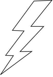 lightning bolt coloring pages | Lightning Bolt Clip Art at Clker.com - vector clip art ...
