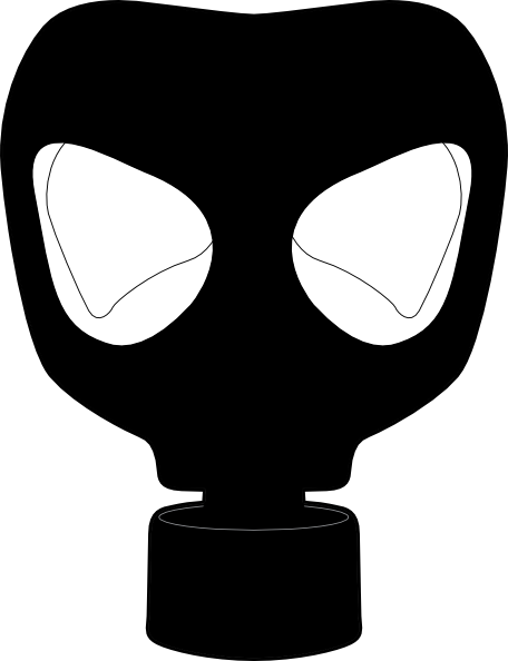 gas mask clip art at clker - vector clip art online, royalty