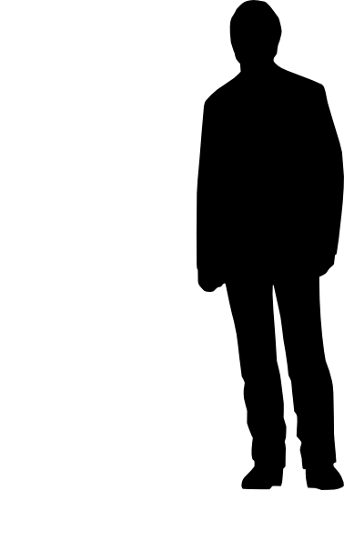 Back of person silhouette clip art