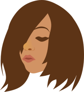 Woman Looking Down Clip Art