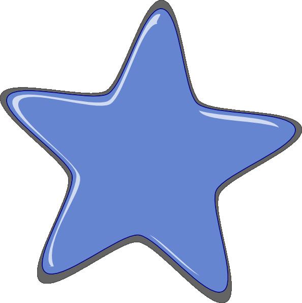 Blue Cartoon Star Clip Art at Clker.com - vector clip art ...