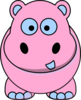 Pink And Blue Hippo Clip Art