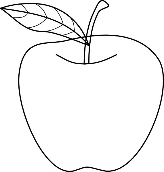 Apple Outline Clip Art At Clker