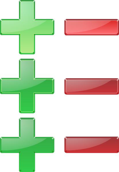Positive And Negative Signs Clip Art at Clker.com - vector ...