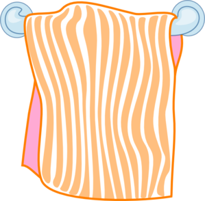 Bath Towel Orange Clip Art