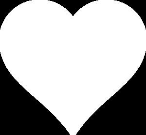 White Heart Clip Art at Clker.com - vector clip art online ...