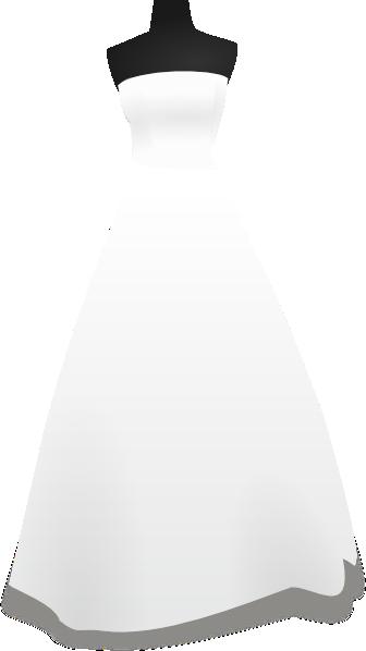Elegant Wedding Dress PNG Clip Art - Best WEB Clipart  Clipart Bride And Bridesmaid Dresses