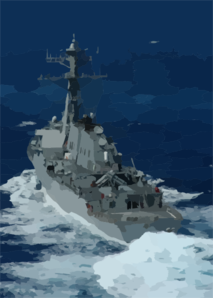 Uss Cole (ddg 67), Attached To The Enterprise Strike Group Clip Art
