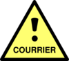 Yellow Caution Courrier Clip Art