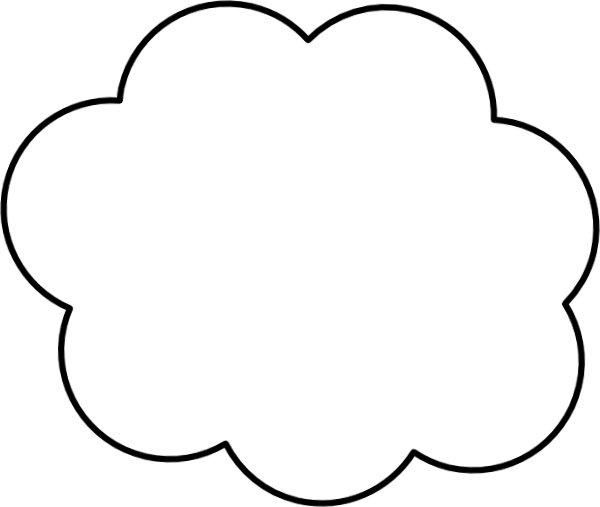 Cartoon-cloud Clip Art at Clker.com - vector clip art ...