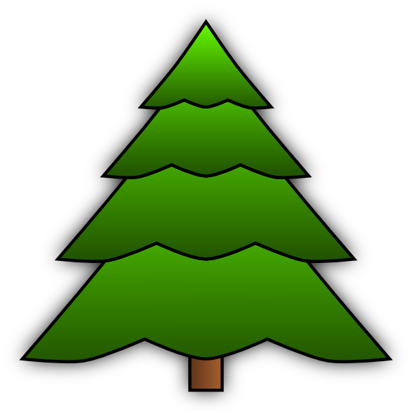 Simple tree clip art at vector clip art online royalty free public domain - Sapin clipart ...