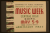 Department Of Public Recreation Presents Sioux Citys [sic] 1940 Music Week Bands, Choirs, Choruses, Quartets, Orchestras. Clip Art
