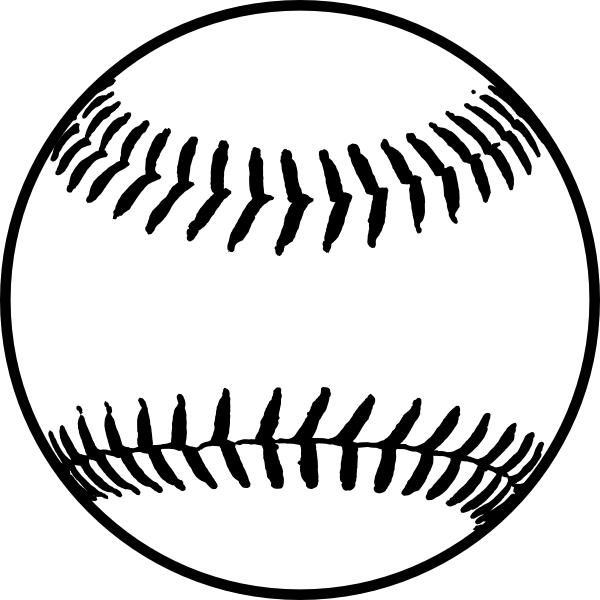 Black Softball Clip Art at Clker.com - vector clip art ...