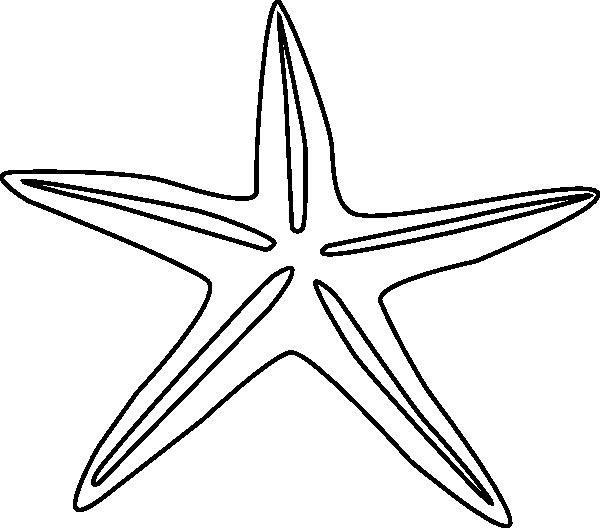 starfish outline clip art at clkercom vector clip art