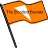 Waving Orange Flag Clip Art