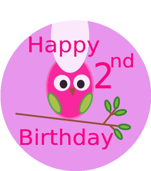 Owl Generic 2nd Birthday Clip Art At Clker.com