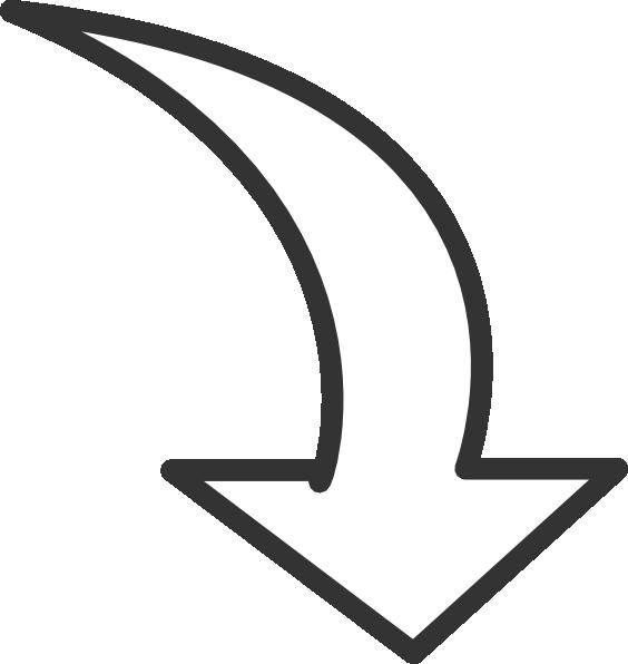 Edit A Line Or Arrow Line Arrow Wordart Picture Clip: White Curved Arrow Clip Art At Clker.com