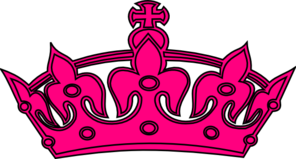 Hot Pink And Black Crown Clip Art