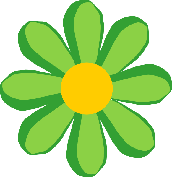 Black Flower Clip Art At Clker Com: Green Flower Clip Art At Clker.com