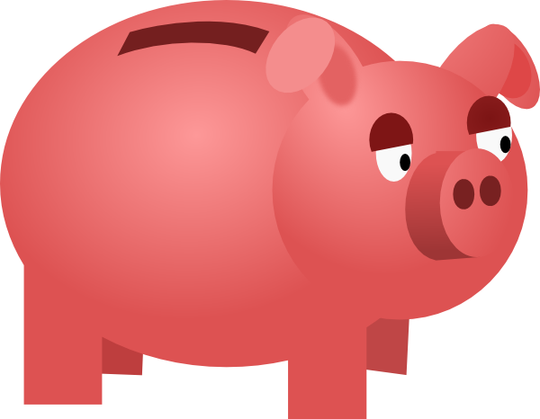 piggy bank clip art at clker - vector clip art online, royalty