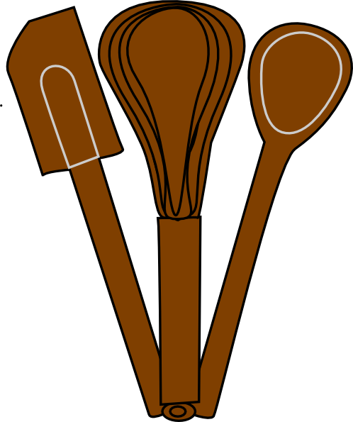 Brown Baking Utensils Clip Art At Clker Com Vector Clip