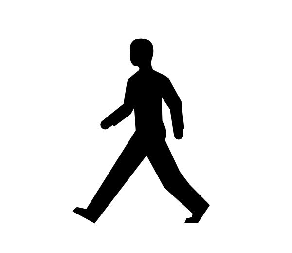 Walking People Logo Male-body-walking Clip...