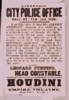 Houdini Appears At The Empire Theatre, Every Evening This Week Clip Art