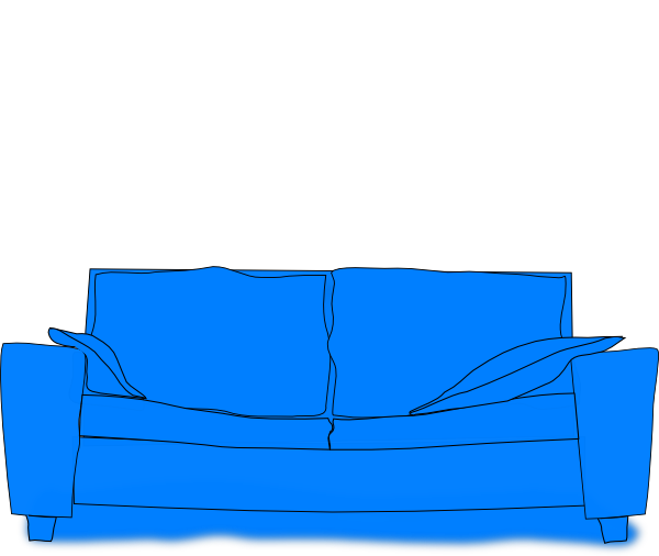 Blue Couch Clip Art At Clker.com
