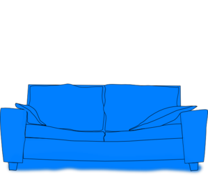 Blue Couch Clip Art At Clker Com Vector Clip Art Online