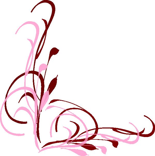 Black Flower 3 Clip Art At Clker Com: Swirl Clip Art At Clker.com