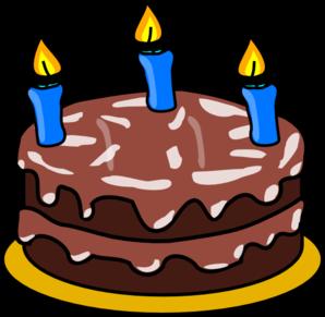 3yr Birthday Cake Clip Art