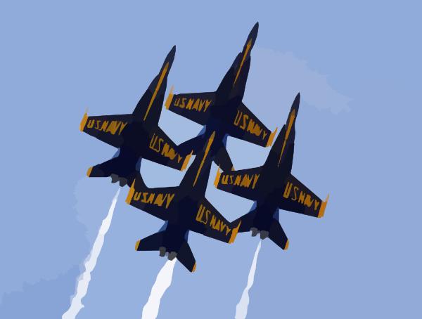 blue angels formation clip art at clker com